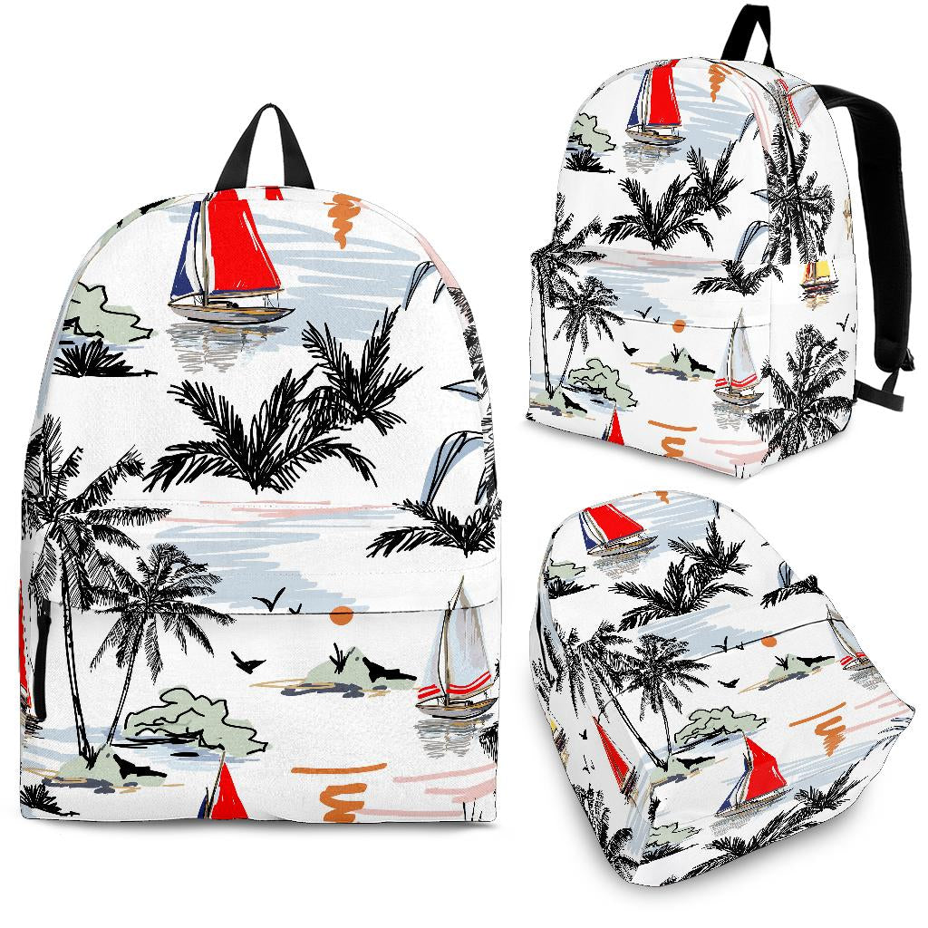 Sailboat Pattern Background Backpack