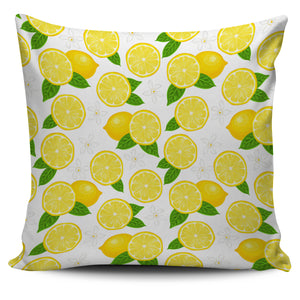 Lemon Flower Pattern Pillow Cover