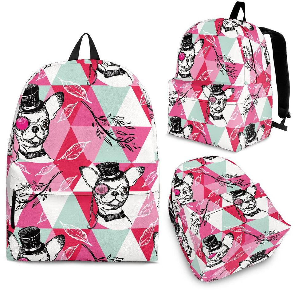 Cool Chihuahua Pink Pattern Backpack