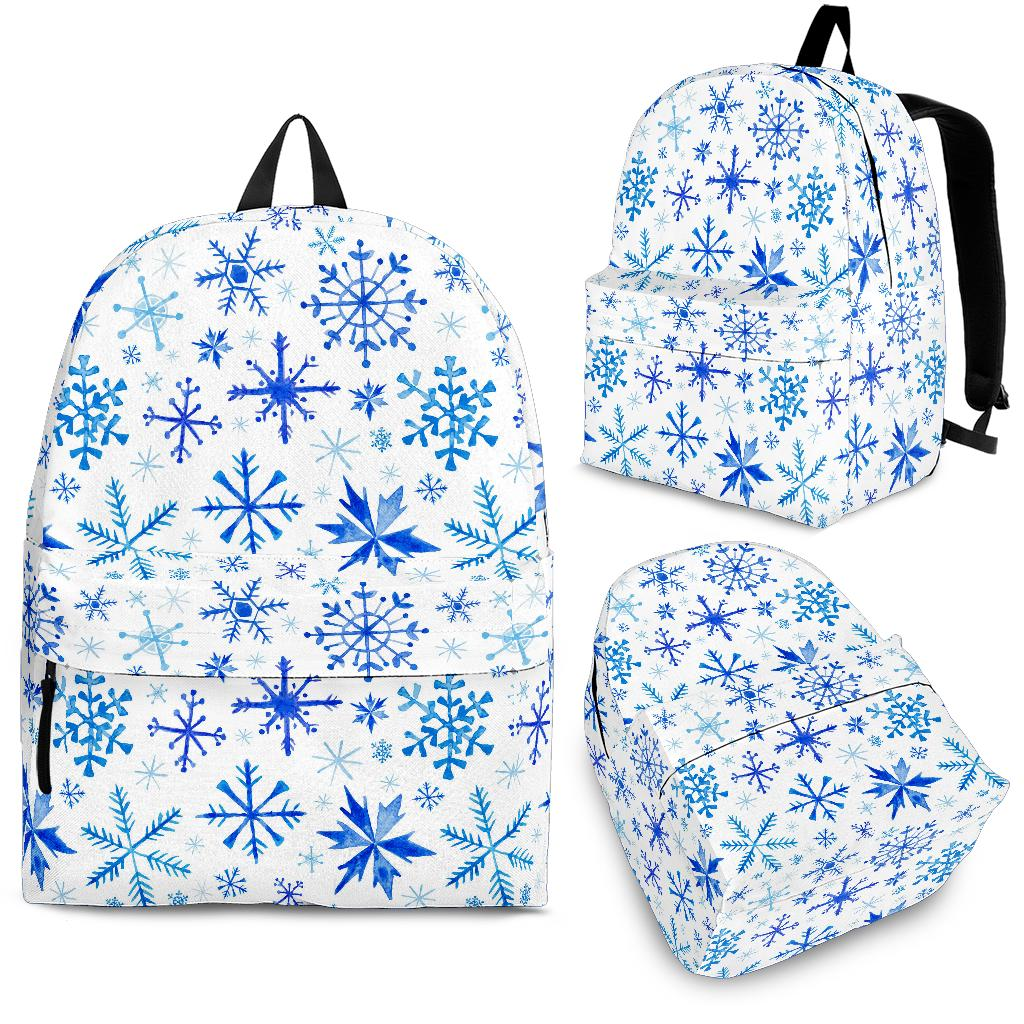 Blue Snowflake Pattern Backpack