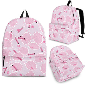 Tennis Pattern Print Design 02 Backpack