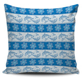 Dolphin Tribal Pattern Pillow Cover