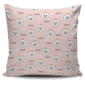 Pomeranian Pattern Pillow Cover
