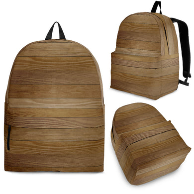 Wood Printed Pattern Print Design 02 Backpack