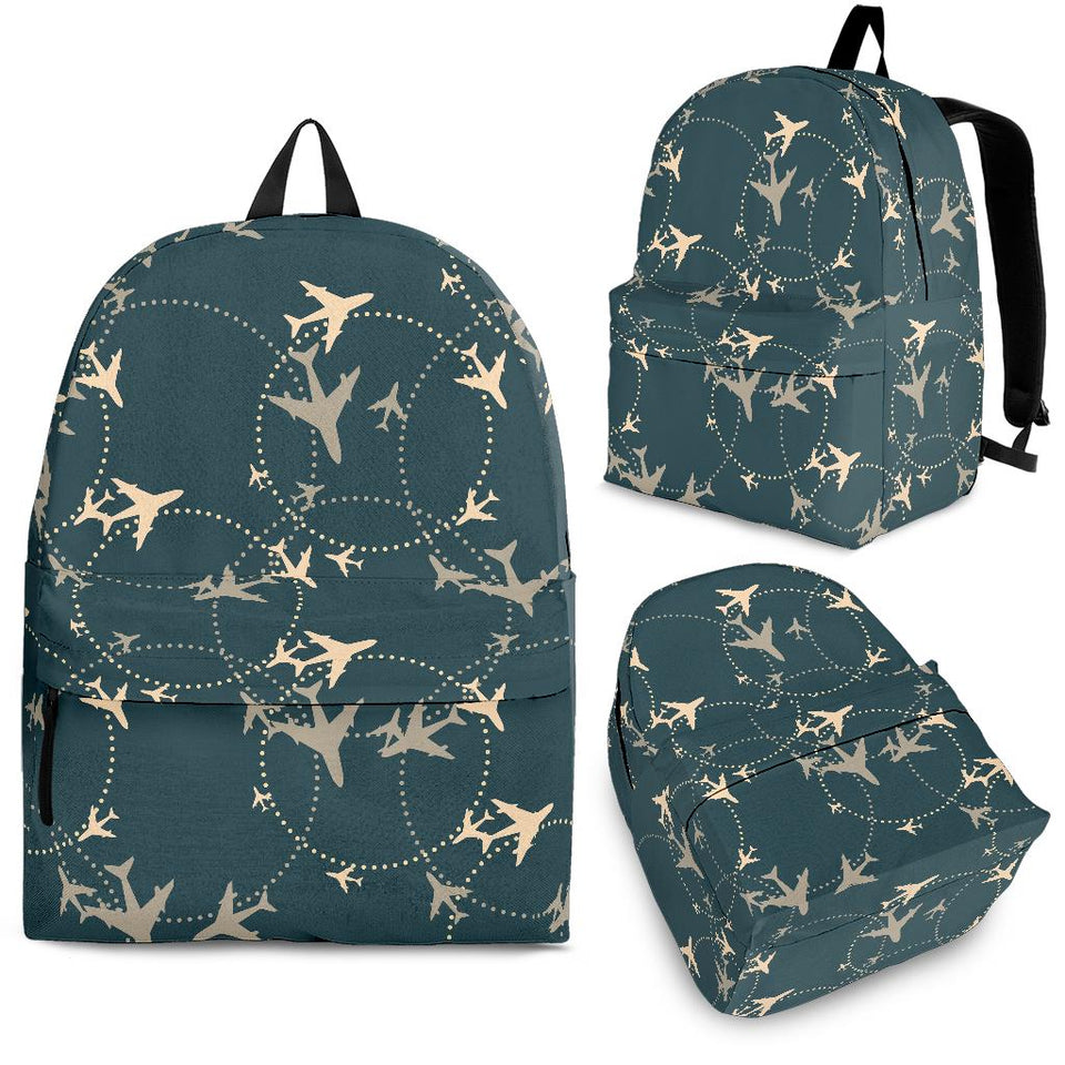 Airplane Circle Pattern Backpack