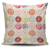 Donut Pattern Pillow Cover