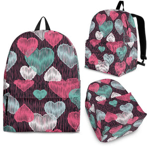 Decorative Heart Pattern Backpack