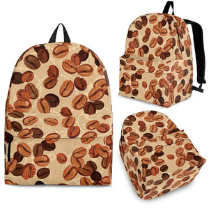 Coffee Bean Pattern Backpack