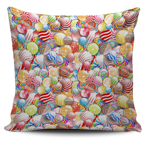 Candy Lollipop Pattern Pillow Cover