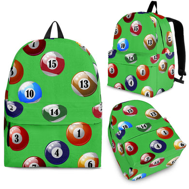 Billiard Ball Pattern Print Design 02 Backpack