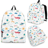 Helicopter Plane Pattern Backpack