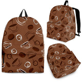 Coffee Cup and Coffe Bean Pattern Backpack