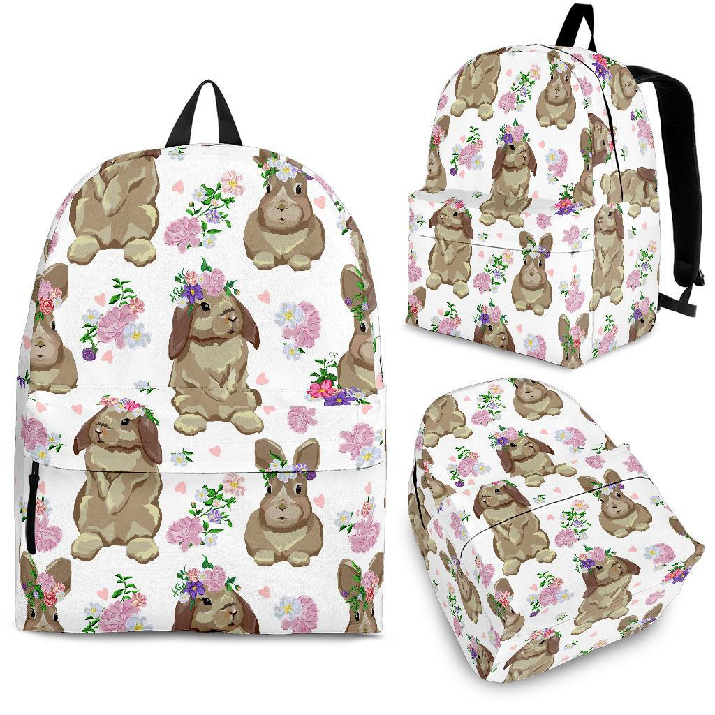 Rabbit Pattern Backpack