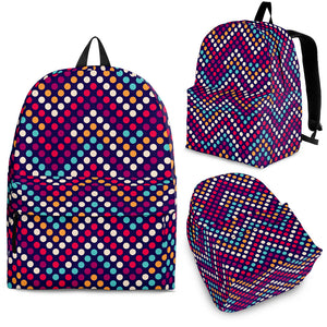 Zigzag Chevron Pokka Dot Aboriginal Pattern Backpack