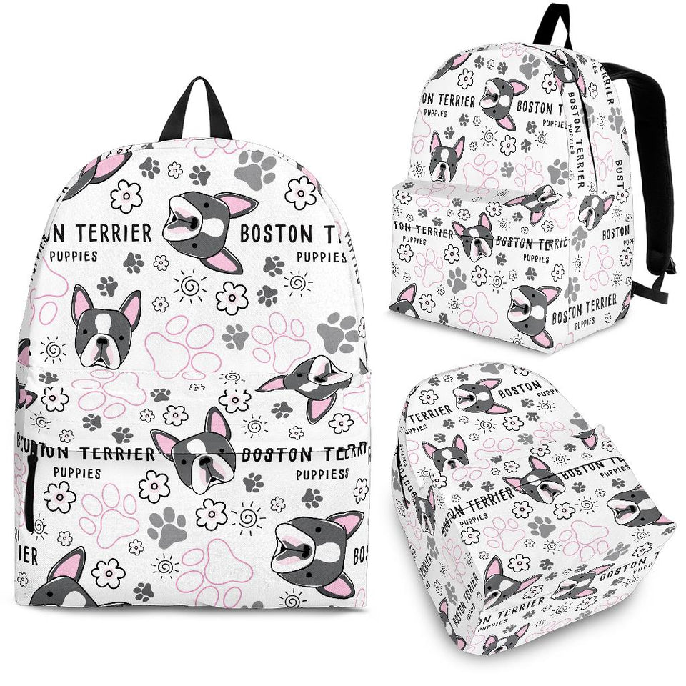 Boston Terrier Pattern Backpack