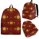Sun Pattern Red Background Backpack