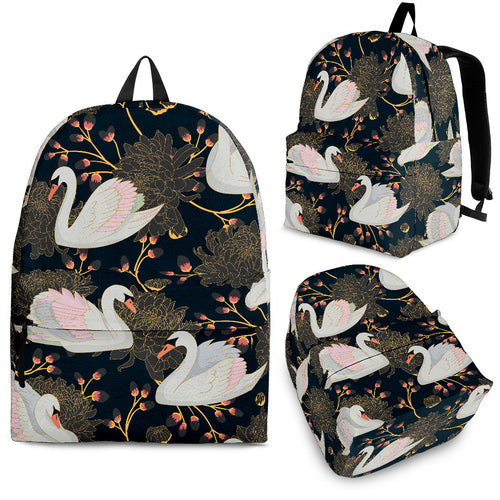 Swan Pattern Backpack