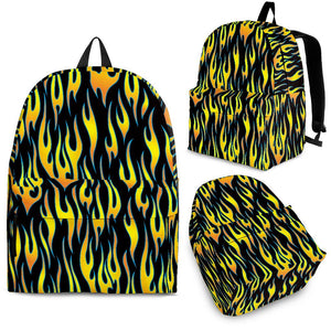 Flame Fire Pattern Background Backpack