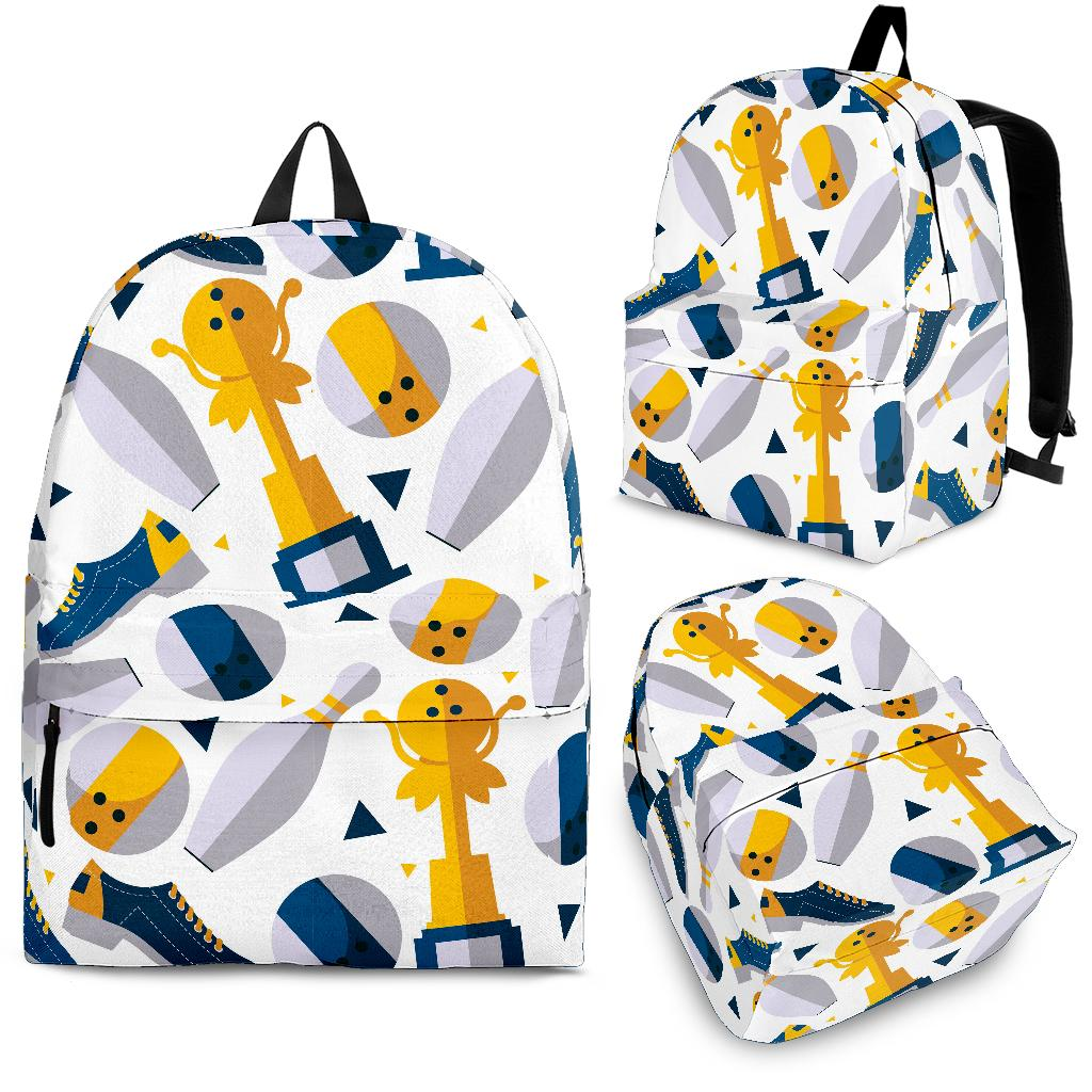 Bowling Ball and Shoes Pattern Backpack