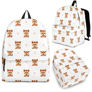 Yorkshire Terrier Pattern Print Design 03 Backpack