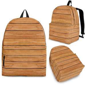 Wood Printed Pattern Print Design 04 Backpack