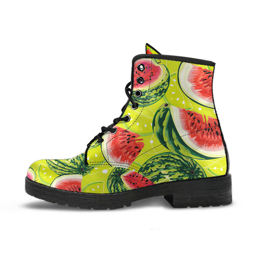 Watermelon Theme Pattern Leather Boots