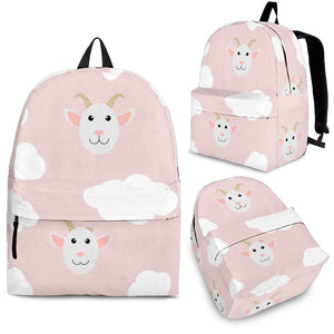Goat Could Pink Pattern Backpack