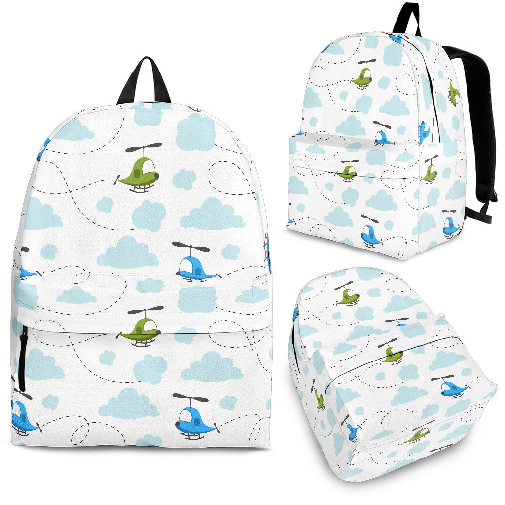 Helicopter Pattern Backpack