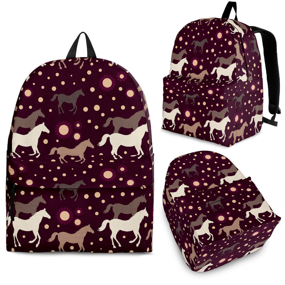 Horse Pattern Background Backpack