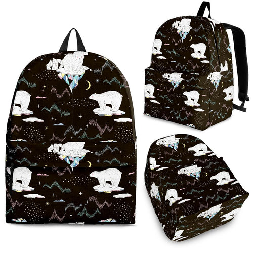 Polar Bear Pattern Background Backpack