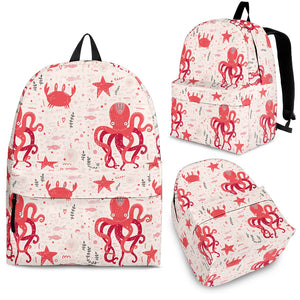 Octopus  Crab Starfish Pattern Backpack