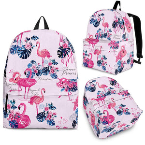 Flamingo Pink Pattern Backpack