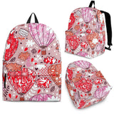 Red Pink Hot Air Balloon Pattern Backpack
