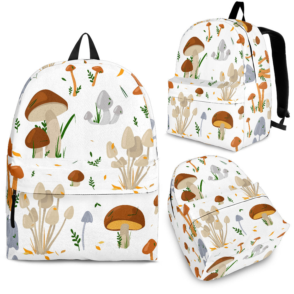 Mushroom Pattern Theme Backpack