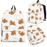 Pomeranian Yoga Pattern Backpack