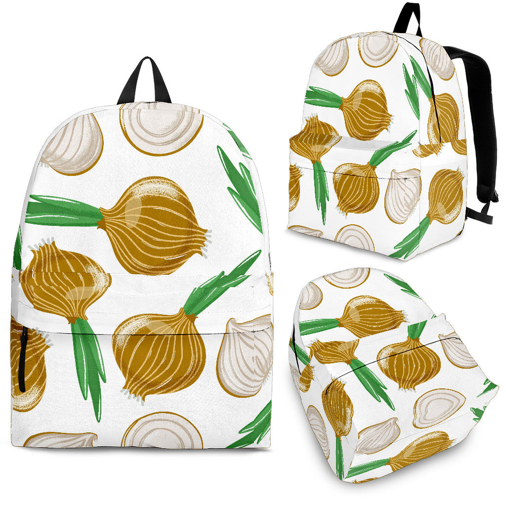 Onion Pattern Background Backpack
