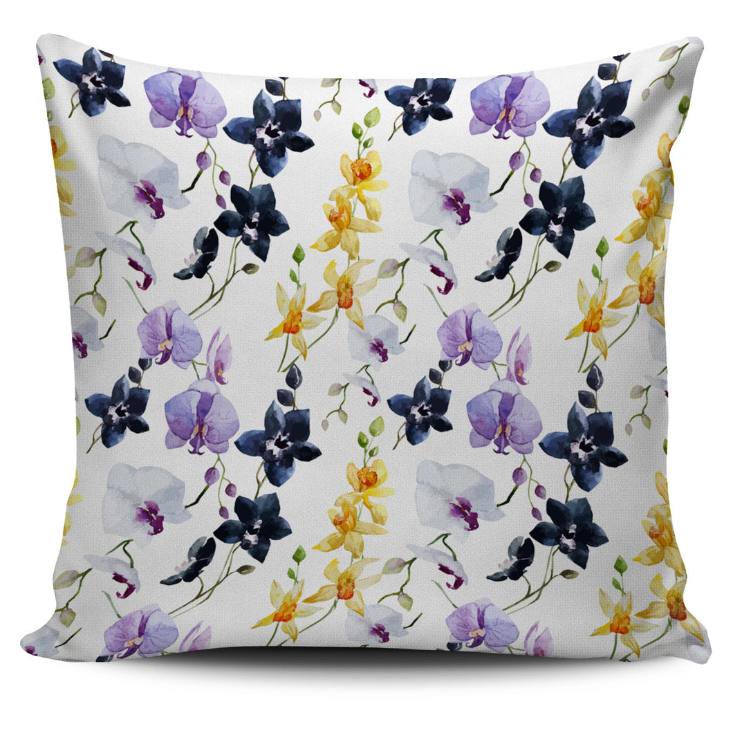 Orchid Pattern Background Pillow Cover