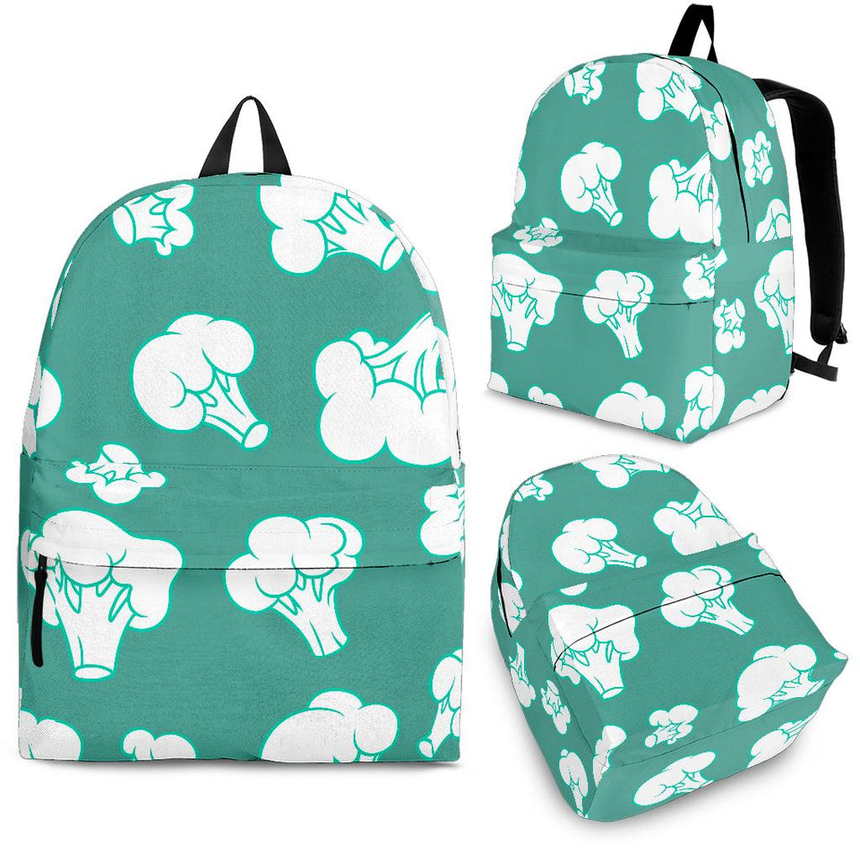 Broccoli Pattern Green background Backpack