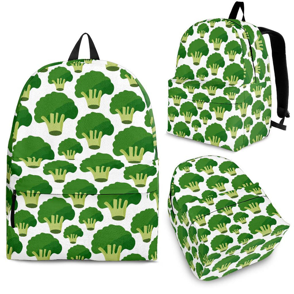 Broccoli Pattern Background Backpack