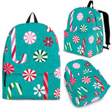 Christmas Candy Pattern Backpack