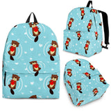 Otter Heart Pattern Backpack