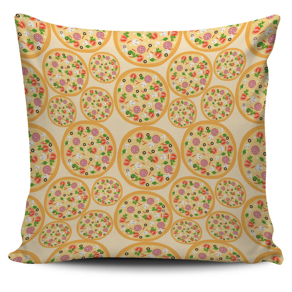 Pizza Theme Pattern Pillow Cover