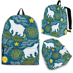 Polar Bear Pattern Backpack
