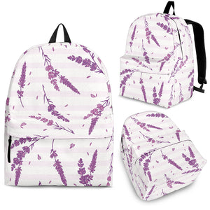 Lavender Pattern Stripe Background Backpack