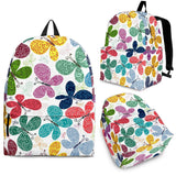 Colorful Butterfly Pattern Backpack