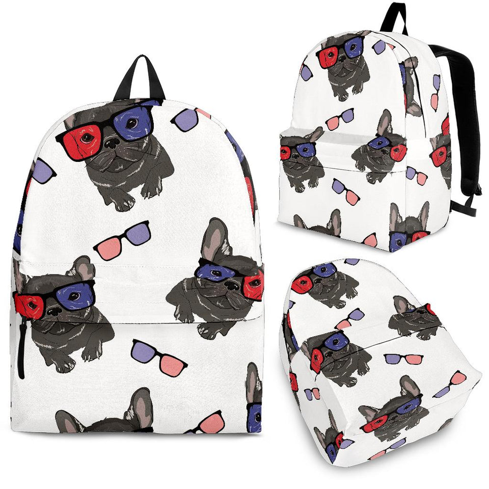 French Bulldog Sunglass Pattern Backpack
