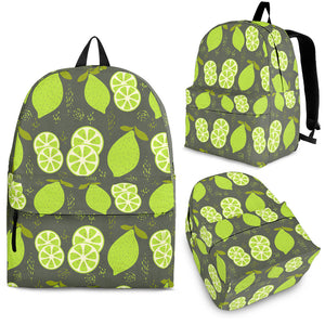 Lime Pattern Theme Backpack