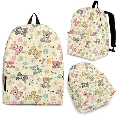 Teddy Bear Pattern Print Design 05 Backpack