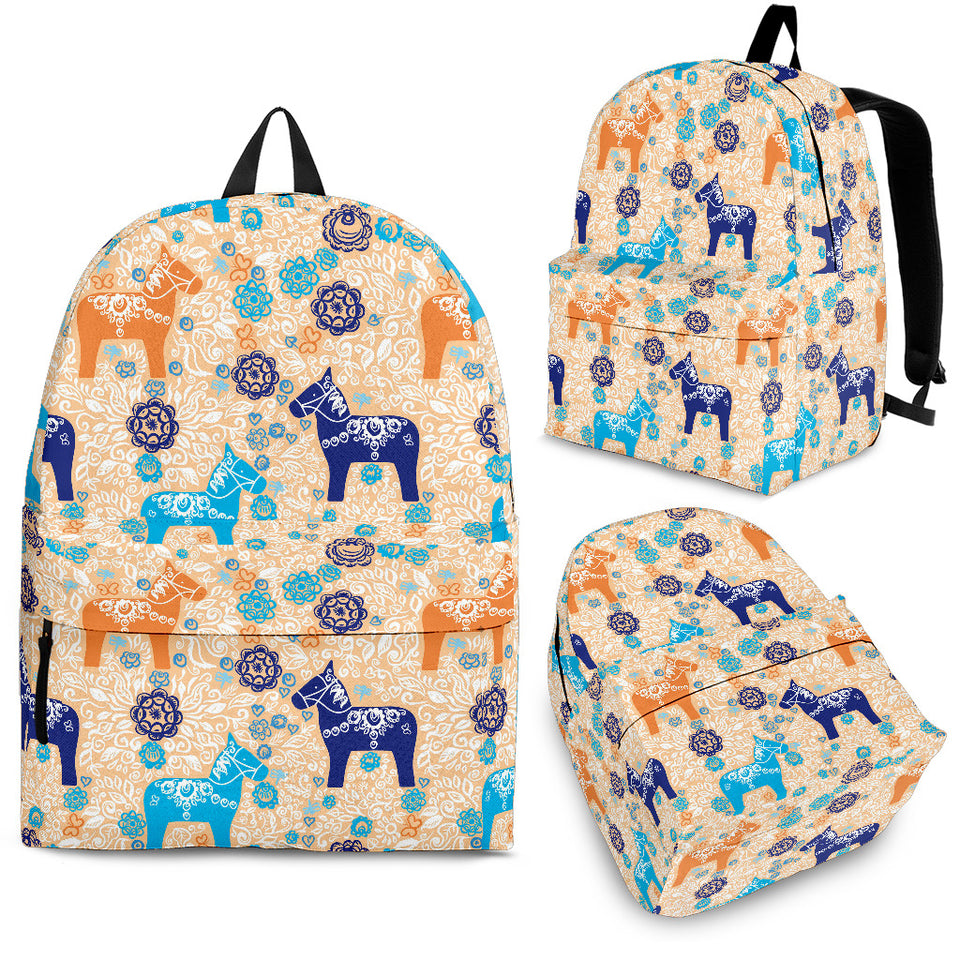 Cute Horse Pattern Backpack