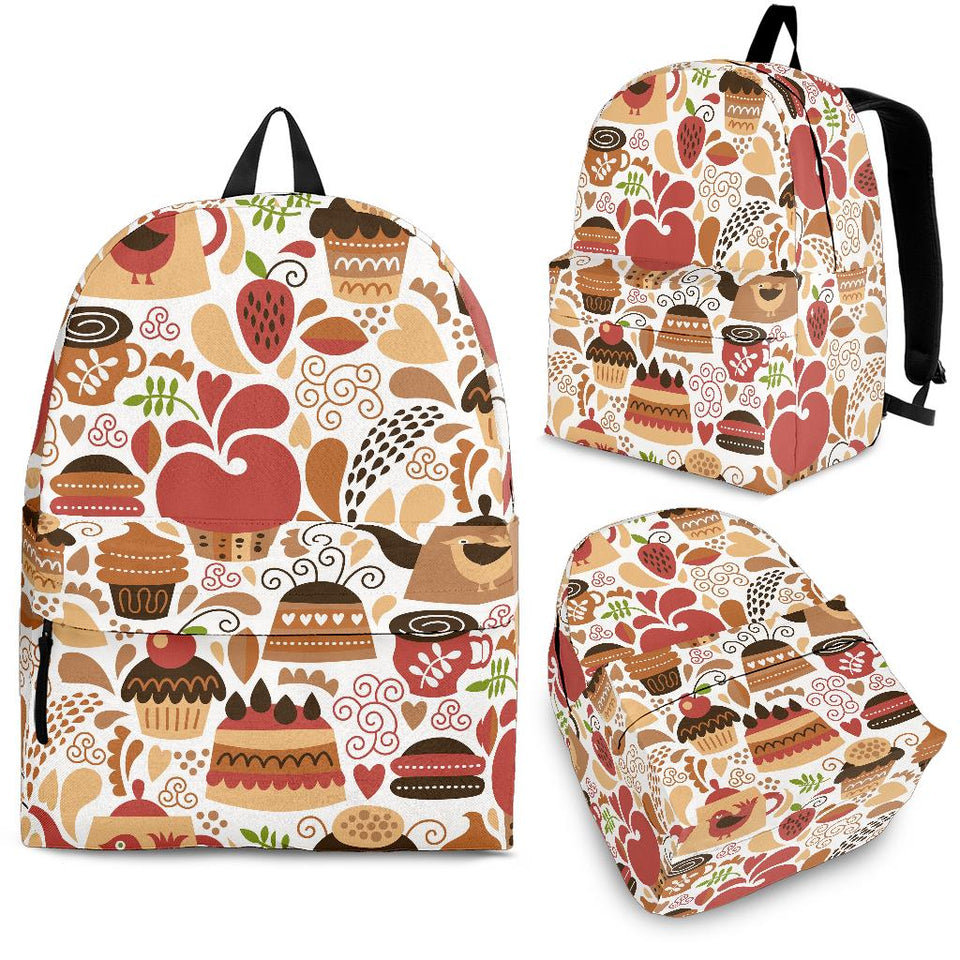 Hand Drawn Cake Pattern Backpack